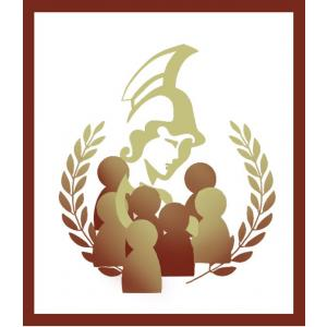 Athena in a crowd logo with border.JPG